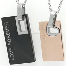 Couples Stainless Steel Necklace Fashion Friendship Jewelry Mens Women Forever Love Promise Necklaces & Pendants Bijoux