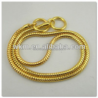 anti-corrosion galvanized 15.5 gauge gold chain link