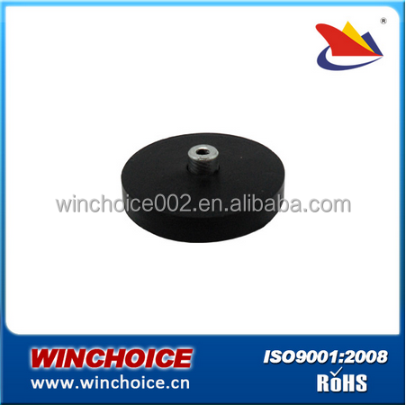 High strength NdFeB / Sintered Neodymium Magnets , rubber coated magnets