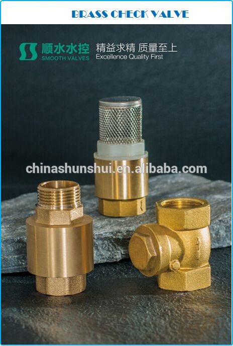"SS60201 Brass non return valve 1/2"" 3/4"" 1"" 2"" 3"" brass check valveFactory supply pvc union check valve"