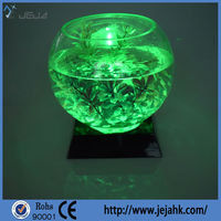 Wedding souvenirs battery operated led crystal light base for centerpiece decorations
