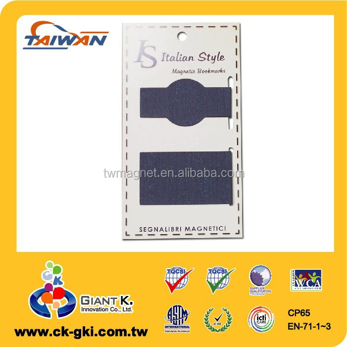 Texture paper custom Magnetic bookmark for souvenir
