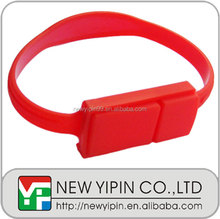 Fashion promotion silicone wristband usb flash drive custom gift bracelet usb flash drive 4GB with your logo