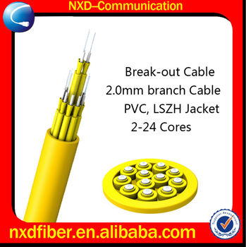2-24 Core Indoor Breakout Fiber Optic Cable