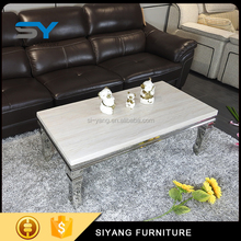 Living room furniture multifunction travertine marble coffee table CJ014