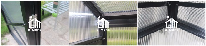 G-MORE 8'X 10' 10MM Polycarbonate Grow house