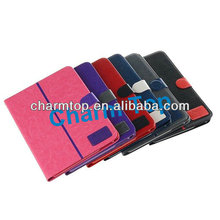 Contrast Color Contrast Color Stand Leather Case For Samsung Galaxy Note 10.1 P600