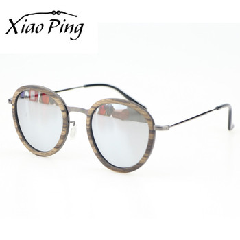 xiao Ping professional factory supply sun glasses custom wood metal frame sunglasses