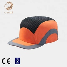 HDPE or ABS plastic helmet insert ce en812 safety bump cap with short peak wholesale price