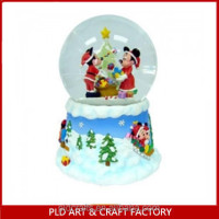 2014 Hot Sale Glass Snowball/Mickey Snow Globe /Mickey Christmas snow globe