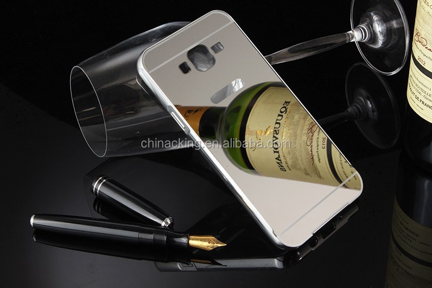Luxury Metal Mirror Back Bumper Case Cover For Samsung Galaxy J7