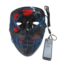 De noël EL Fil Cosplay LED Festival Parti Halloween Costume Masque, Chaude Halloween Masque LED Light up Purge Masque