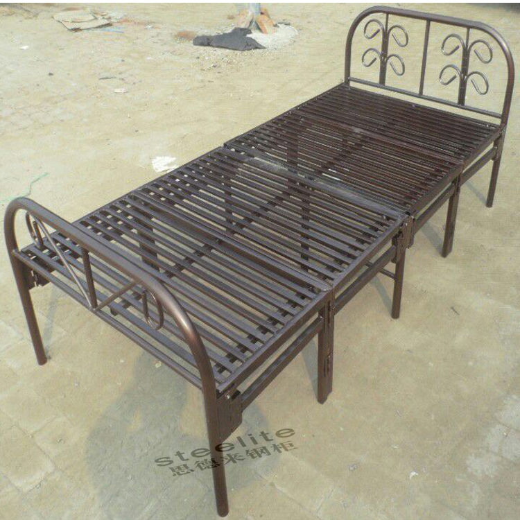 Cheap price single folding bed designs Single Iron Bed Steel Cots