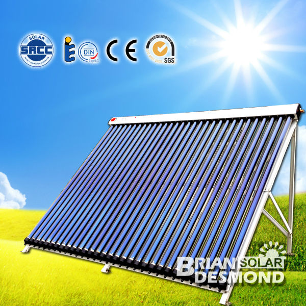 Best Quality Horizontal Vacuum Tube Heat Pipe Solar Collector