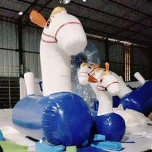 inflatable jumping horse race sports games