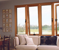 Top Quality Acoustic aluminium-wood cladding windows thermal break system/non thermal break system