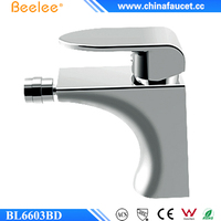Beelee BL6603BD Bidet Mixer Bathroom Sink Faucet Single Lever Chrome Finish Washroom Basin Mixer