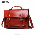 Women Genuine Leather Laptop Messenger Bag