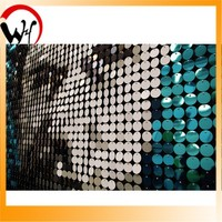 Sequin plastic tile paillette wall