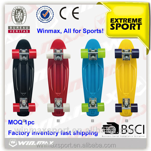 2015 hot sales high quality plastic PU wheel electric skateboard