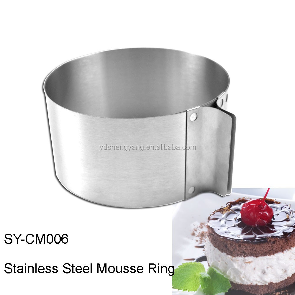 SY-CM006 Stainless Steel 6 to12 Inch Adjustable Cake Mousse Mould Cake Baking Cake Decor Mold Ring