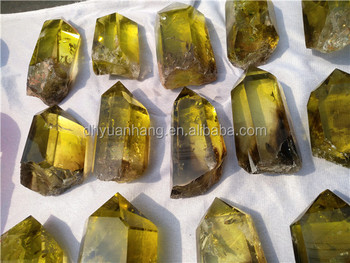 Golden natural citrine quartz crystal wands high quality crystal points obelisk