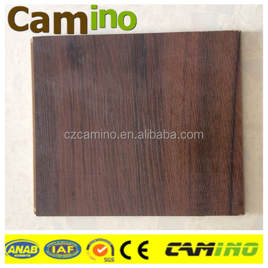 Hot sale v-groove Waxed HDF smooth high grade laminated wooden flooring