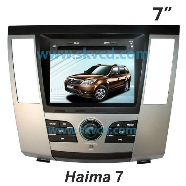 "(Haima 7) 7 ""en el tablero de dvd car navegación systemr con gps + tv + radio, bluetooth"