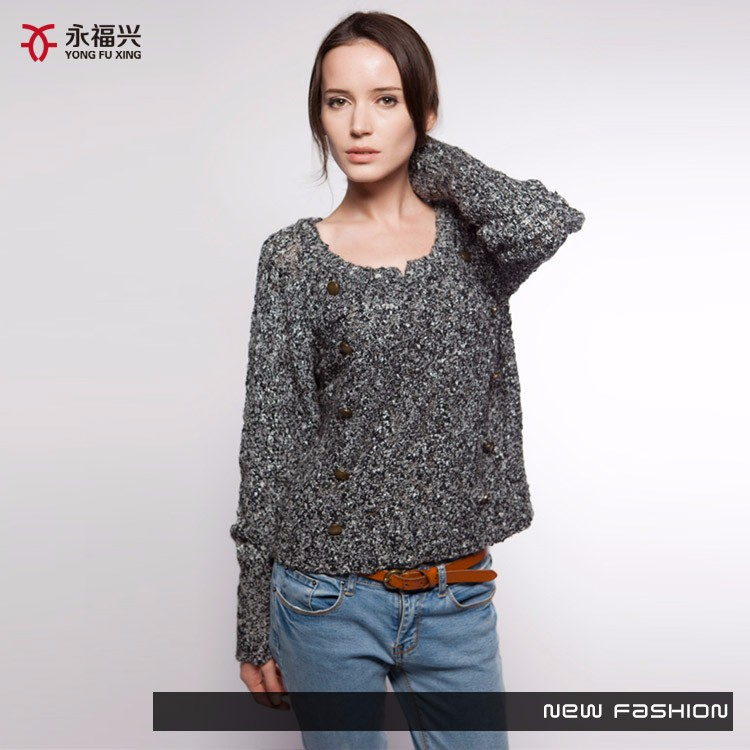 new style cheap and beautiful loose short pullover sweater