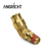 Push to Connect Swivel Male Elbow 45 degree TUBE OD X NPTF MALE DOT Air Brake Brass Fittings