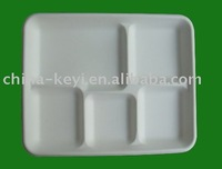 paper tray(made with sugarcane bagasse pulp)