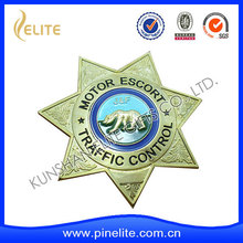 newest china supplier customized lapel pin,star shaped badge with good quality