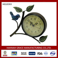 Rustic Style Antique Decoration Metal Table Clock