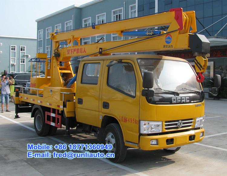 DFAC 4x2 12 to 16m hydraulic knuckle arm type aerial working platform truck for sale