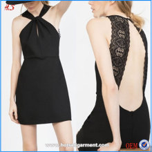 Best Sell Elegant Dresses For Women High Demand Skater Dress Open Sex Lady With Lace Back