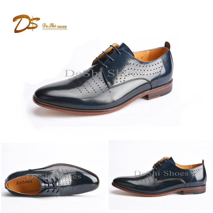 Most popular classy leather men business casual dress shoes