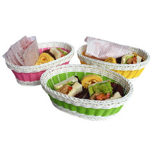 Offer all kinds size beautiful plastic bread basket for 2017 Christmas gift