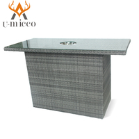 outdoor garden modern wicker bar table