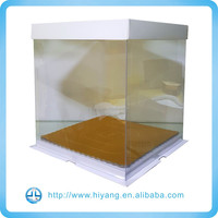 Custom Square Transparent Cake Box, Clear Cake Box with lid and base