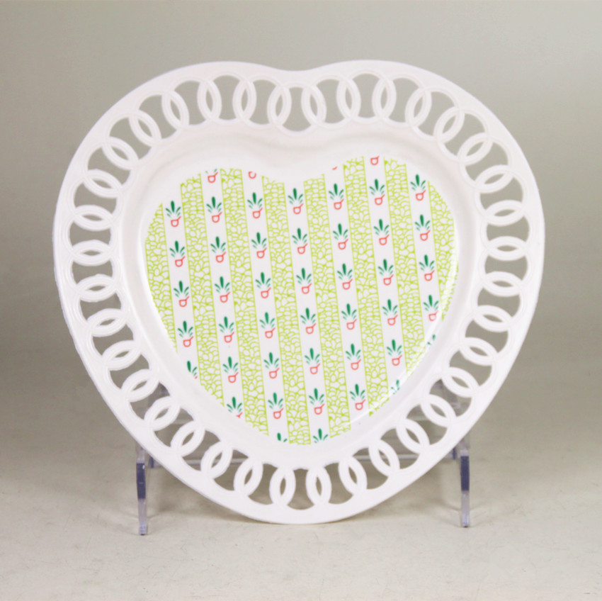 Heart shape plastic pp mini candy plate