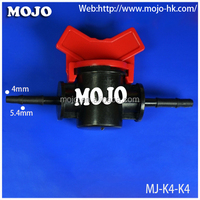 MJ-K4-K4 4mm to 4mm pipe fitting smoke detector hrion solenoid valve Straight Through Plastic Micro water flow Valve