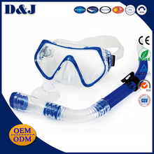 Wholesale Anti fog UV Protection Split Yoke Strap Silicone PC Lens Diving Mask Driving Snorkel Set for Adult