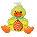 Customized plush 9 inch stuffed yellow duck animals