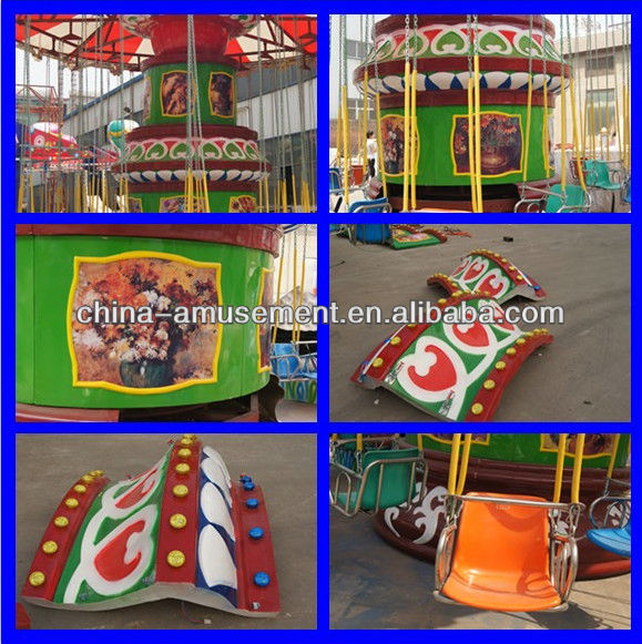Amusement park thrilling flying chair swing rides, flying chair ride, flying chair for sale