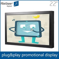 Flintstone 22 inch android wall mount 3g wifi touch screen TV network advertising display LCD AD monitor