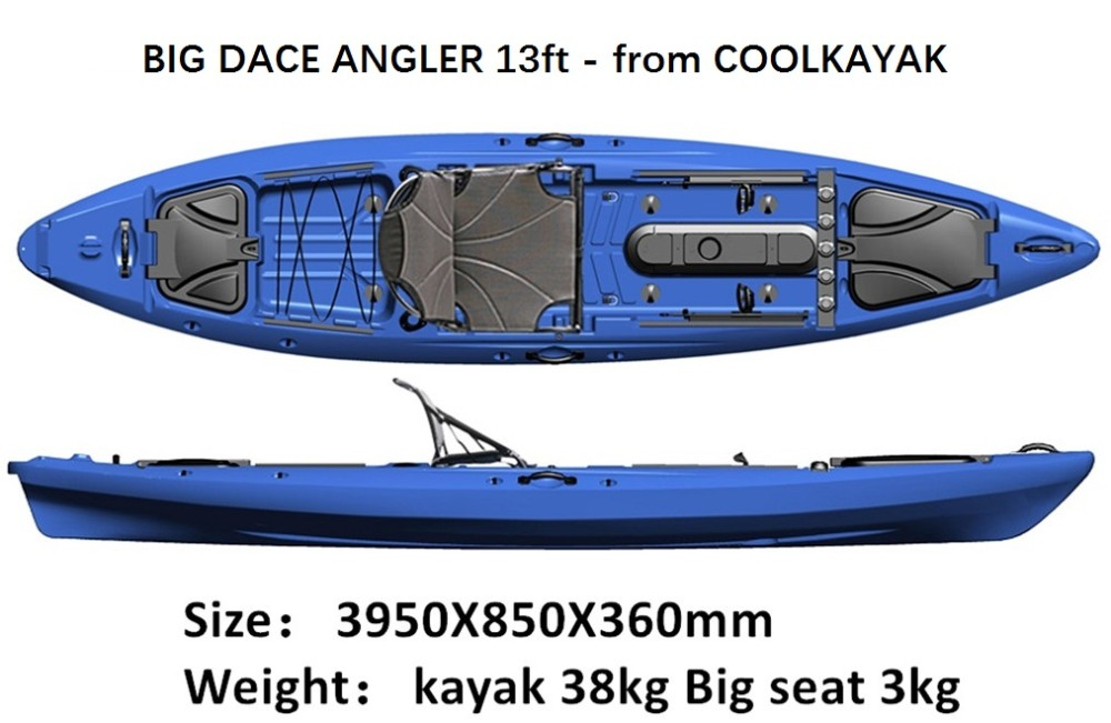 2017 no inflatable fishing ocean kayak new plastic angler for New fishing kayaks 2017