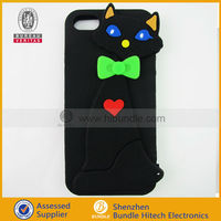 Cute Design 3D Cat silicone cover For iphone 5