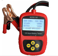 Small Digital auto battery tester with new design M-100