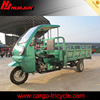 China 200cc 3 wheel cargo motorcycle with semi-cabin cargo tricycle for sale