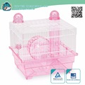 High quality new premium iron Wire plastic pan hamster cage small animal cage Equipped with 13cm rolling wheel